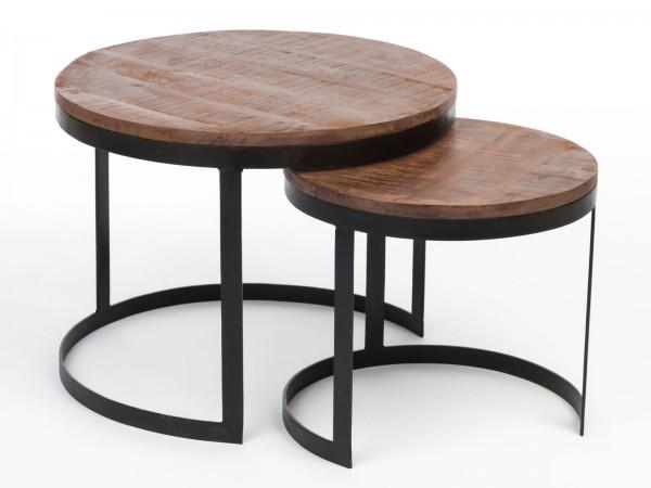 Couchtisch Wohnzimmer-Tisch Beistelltisch Metallgestell rund oder eckig verschiedene Modelle
