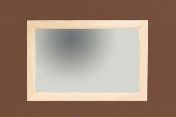 Wand-Spiegel 120 x 80 cm mit Massivholz-Rahmen Quadro Pinie massiv lipizano