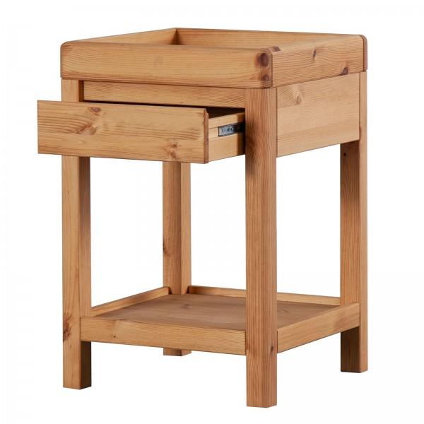 Telefontisch Beistelltisch 40x60x40 cm Lampen-Tisch Blumenständer natur Picco Pinie Nordica