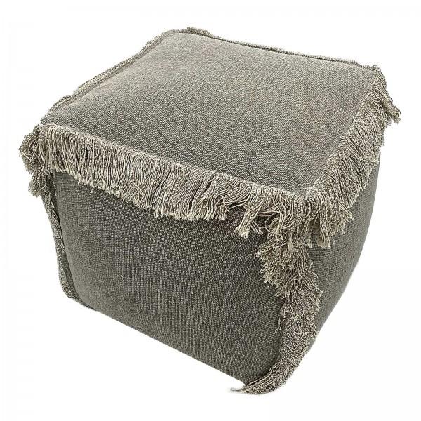 Sitzhocker Sitzpouf 40x40x40 cm Sitzwürfel Sitzpuff Bodenkissen Fußhocker Stonewashed-Optik