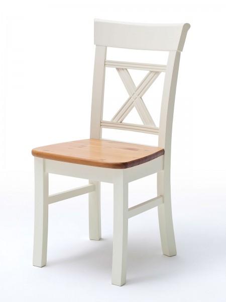 Stuhl Padua mit Holzplatte, H 95, B45 cm