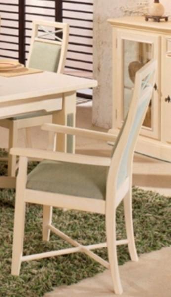 Pinienarmlehnstuhl  Sitz+Rücken gepolst.
