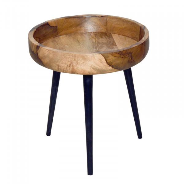 Beistelltisch Couchtisch Wohnzimmer Tisch rund ø 40/50 cm Amsterdam Metall-Gestell schwarz matt