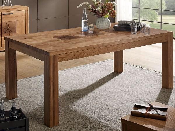 Esstisch Massivholz Esszimmer Tisch Waldeiche 160/180/200 x 90 cm Küchentisch Wildeiche massiv