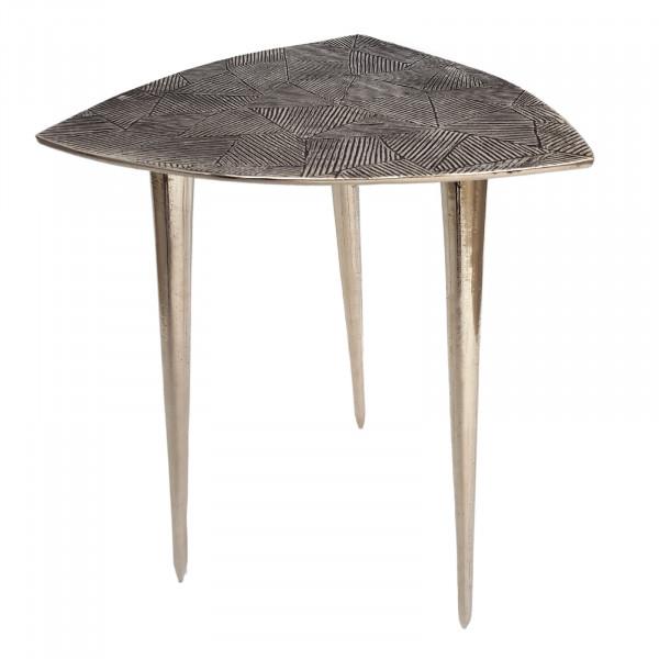 Beistelltisch Metall Dekotisch Alster 35x46x35 cm dreieckig klass. Design Aluminium silber- oder gol