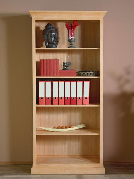 Bücherregal Regal-Schrank Grande mit 4 Regalböden, Pinie massiv