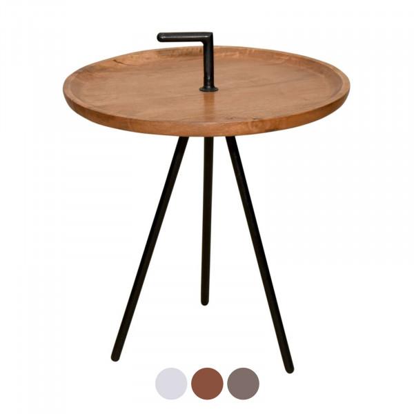 Tisch Rund 50 Cm.Serviertisch Beistell Tisch Rund Reno ø 50 Cm Metall Gestell Altsilber Oder Schwarz