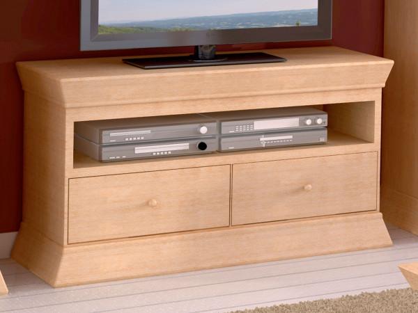 TV Lowboard Fernsehschrank TV Schrank Quadro B 114 H 64 cm Pinie massiv