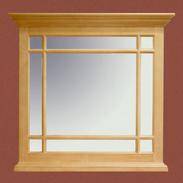 Spiegel Wandspiegel mit Holzsprossen Duett B 94 H 89 cm Pinie massiv