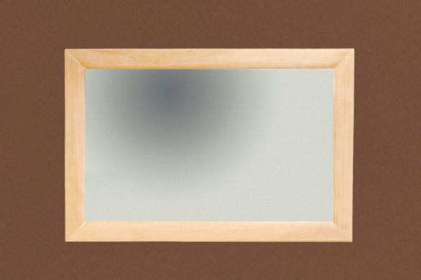 Wand-Spiegel 120 x 80 cm mit Massivholz-Rahmen Spiegel Quadro Pinie massiv karamell