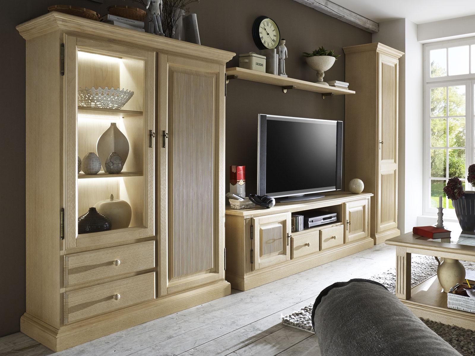 Wohnwand Wohnzimmer Schränke Casapino 100000-teilig 10000 Vitrine 10000 TV-Schrank 10000  Highboard 10000 Wandboard