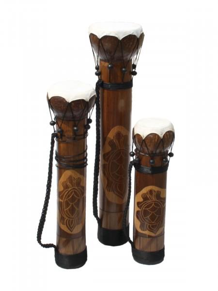 Tifa-Trommeln Deko-Set, 3 Stück handbemalt