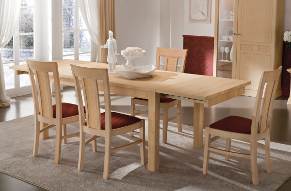 Esstisch Tisch Vienna 140/160 x 90 cm mit 2 Vorkopfauszügen, Pinie massiv