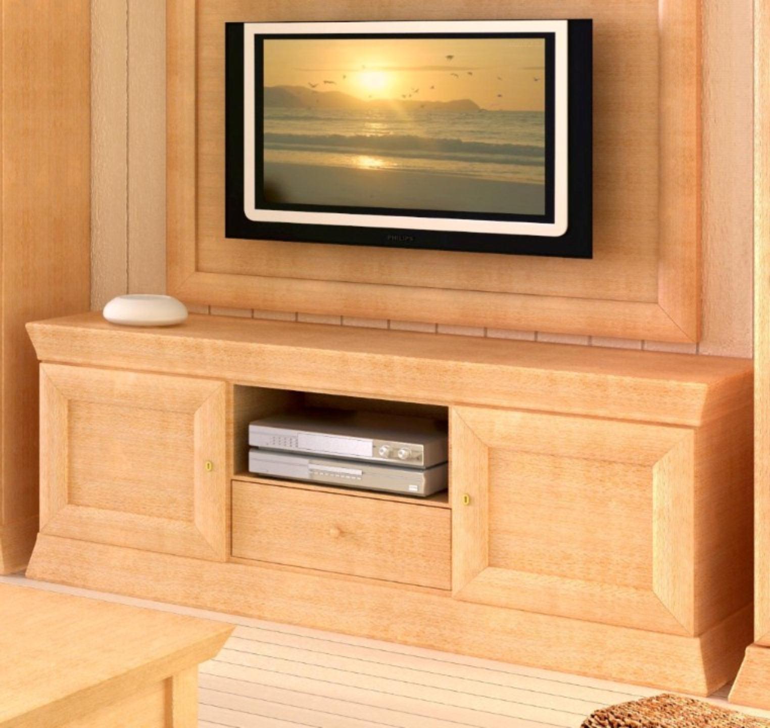 Tv Lowboard Fernsehschrank Quadro Pinie Massiv