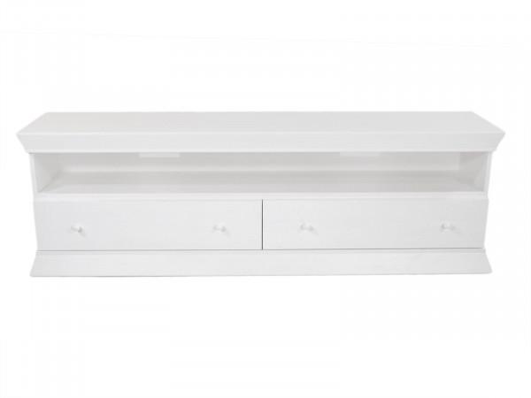TV Lowboard Fernsehschrank Sondermodell B 195 x H 65 cm Pinie massiv weiß gekälkt