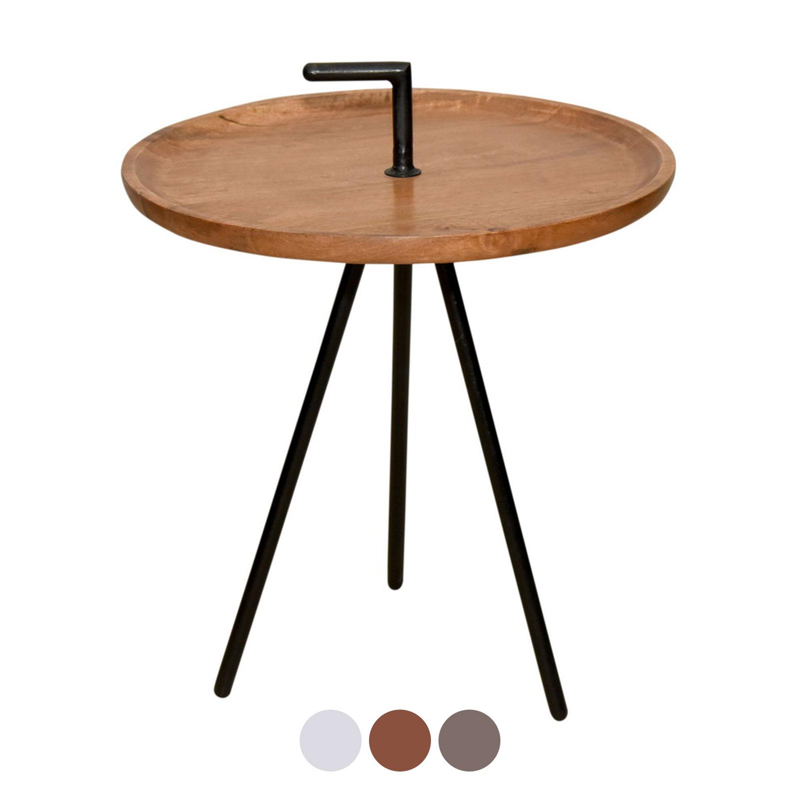 Tisch Rund Metallgestell.Serviertisch Beistell Tisch Rund Reno ø 50 Cm Metall Gestell Altsilber Oder Schwarz