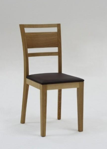 Stuhl Colorado mit Holzsitz massiv, Wildeiche geölt