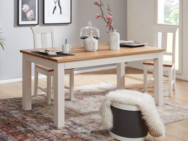 Esstisch Esszimmer Tisch Küchen-Tisch Bari 180 x 90 cm Pinie Nordica weiß