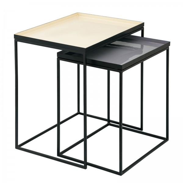 Beistelltisch 2er Set Satztisch 45 H 45 cm Dekotisch Lampentisch Sofatisch Copenhagen Tisch Emaille