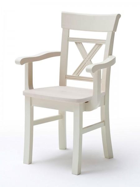 Esszimmer Stuhl mit Armlehne Padua mit Holzsitzfläche mit/ohne Sitzkissen