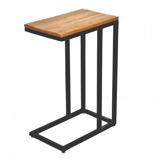 Beistelltisch Sofatisch Laptoptisch C-Tisch 40x60x25 cm Liverpool Metall-Gestell schwarz oder weiß