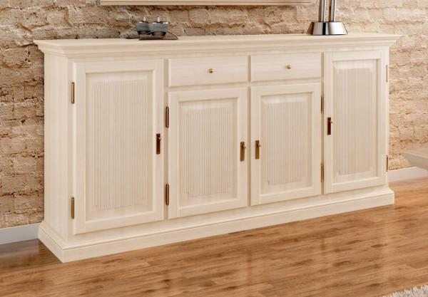 Sideboard Anrichte Duett 4 Türen 2 Schubladen 212 x 104 cm Pinie massiv