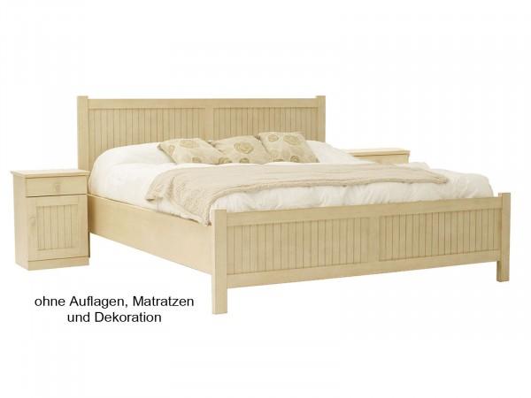 Doppel-Bett-Set Casabella 3-teilig Doppelbett und 2 Nachtkonsolen, Pinie massiv