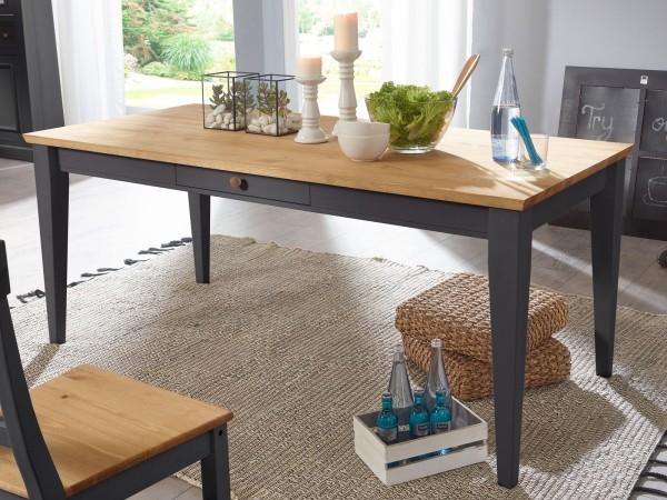 Esstisch Küchen-Tisch Esszimmer Tisch Macra 180 x 90 cm Pinie Nordica grau gewachst