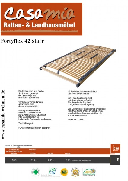 Lattenrost Fortyflex42 Starr Länge 200 cm