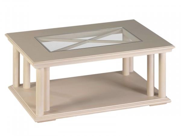 Couchtisch Allegro Mit Glasplatte 110 X 75 Cm Pinie Massiv