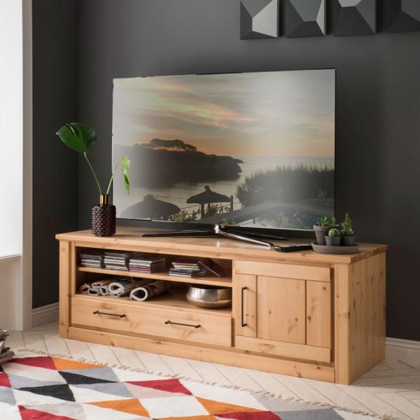 TV Lowboard Fernsehschrank Verona 1 Tür, 1 Schubkasten, 2 Fächer, Pinie Nordica lackiert