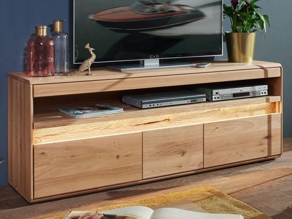 Fernsehschrank Massivholz TV Lowboard TV Schrank B 165 H 64 cm Bergeiche Wildeiche massiv
