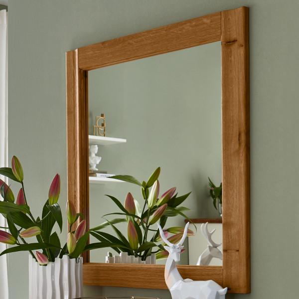Wandspiegel Spiegel mit Massivholzrahmen Novara Pinie Nordica weiß od. Wildeiche natur massiv