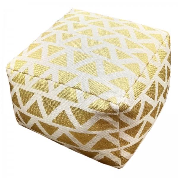 Sitzhocker 2. Wahl Sitzwürfel 55x37x55 cm Fußhocker Bodenkissen Design Pouf Kelim Style Maja gold