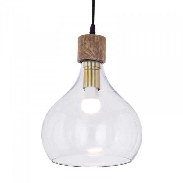 Hängeleuchte 2. Wahl Pendelleuchte Deckenlampe Deckenleuchte Tropfen Form kristallklar Krone Holz