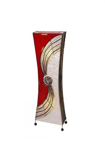 "Stehlampe ""Alisa"" mit Bambusringen, eckige taillierte Form, Höhe 100 cm"