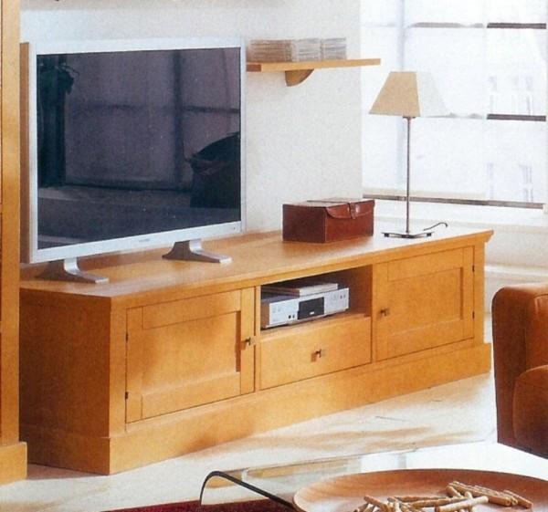 TV-Lowboard Santos, Pinie massiv