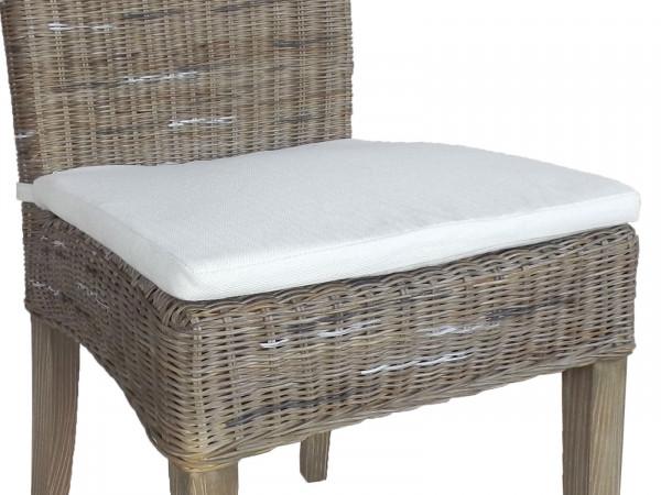 Sitzkissen Stuhlkissen Cardine leinen weiß