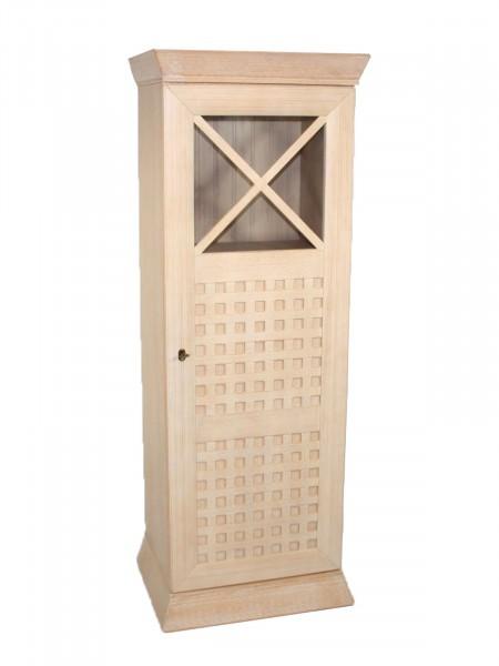 Vitrine Standvitrine 60x167 cm Glasvitrine Vitrinen-Schrank 1-türig New Quadro halbhoch 1 Glas/Holzt