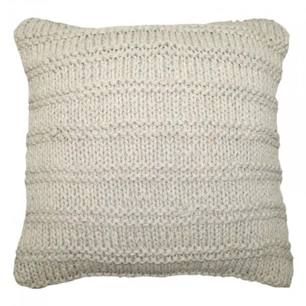Sofa-Kissen Strickoptik Deko-Kissen mit Inlet und Füllung wollweiß