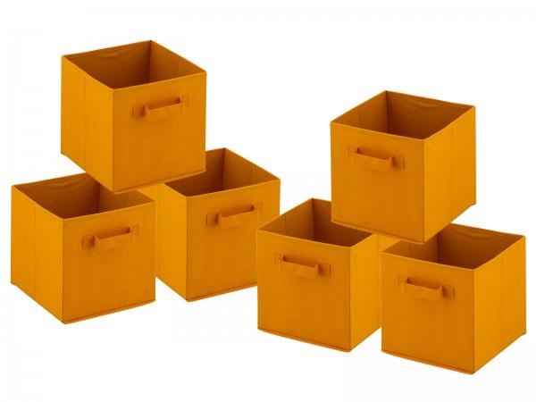 Aufbewahrungsboxen faltbar Faltbox 28x27x27 cm 6er Pack Aufbewahrungskiste quadratisch