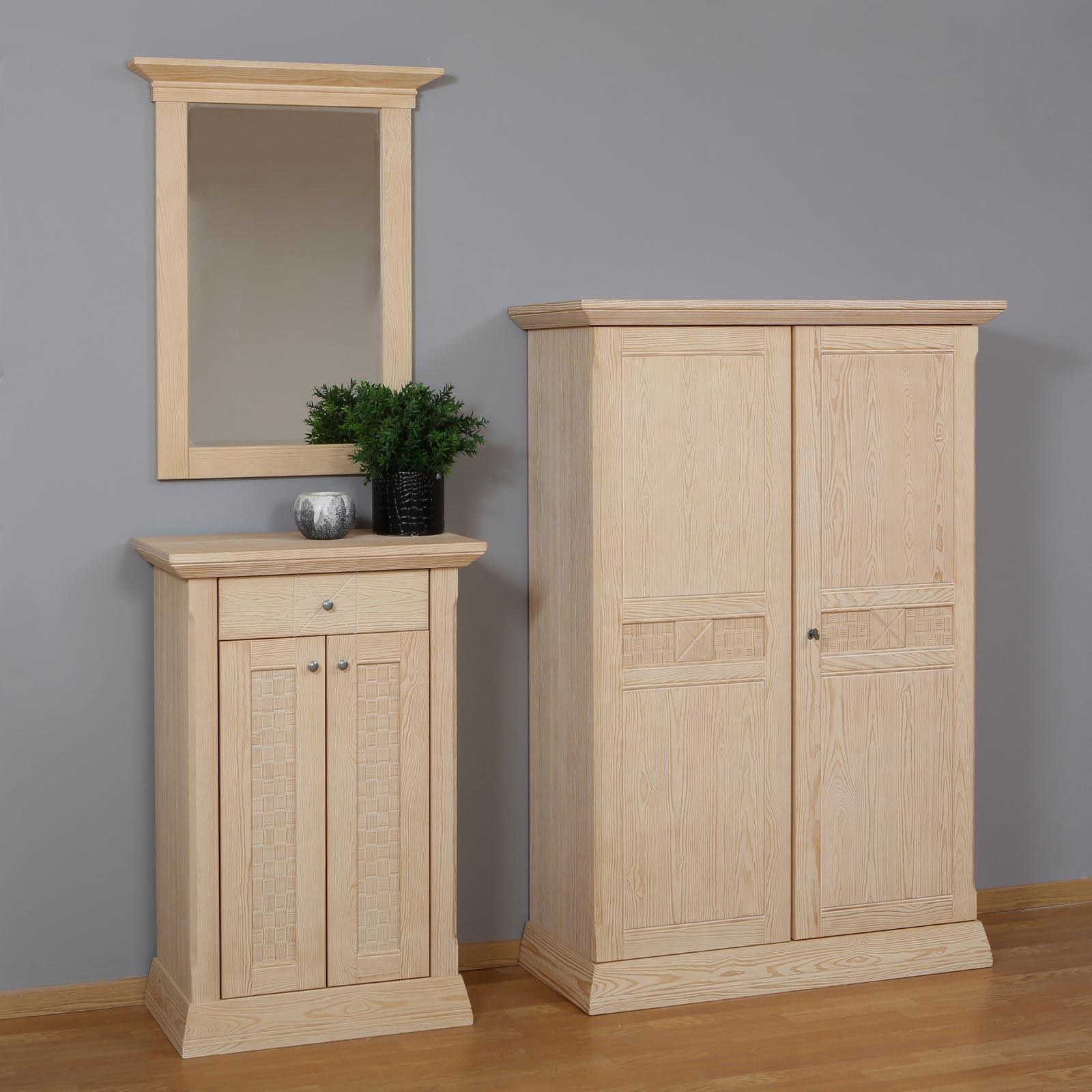 Garderobe set vienna 3 teilig mit highboard kommode und for Garderoben set mit spiegel