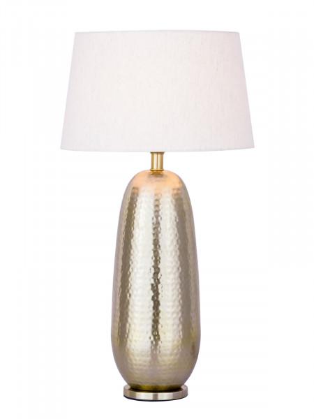 Tischlampe Tischleuchte ø 30 x H 56 cm Nachttischlampe Metall Dekolampe Metall Sockel silber/gold