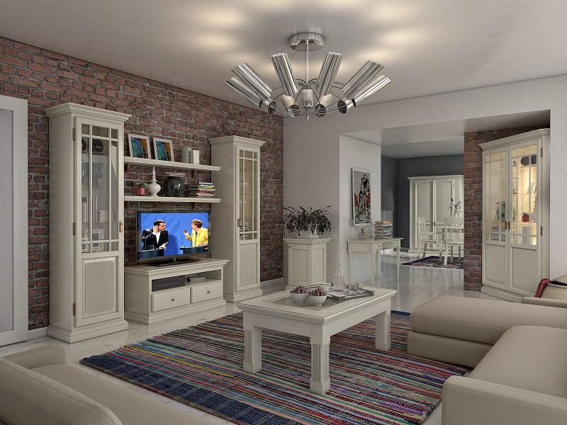 Wohnzimmer Landhaus Duett Aus Pinie Massiv