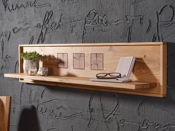 Wandbord Massivholz Bücher Regal Bücherbord B 130/150/178 cm Waldeiche Wildeiche massiv