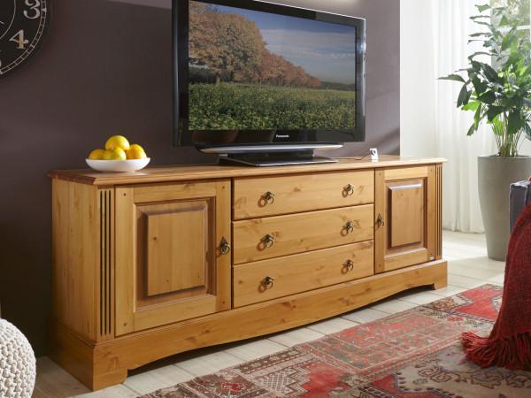 TV Lowboard Fernsehschrank Florenz 2 Türen 3 Schubladen Pinie Nordica massiv sierra