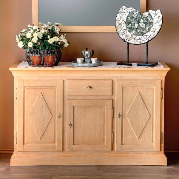 Anrichte Sideboard Grande Holzfront, 3 Türen und 1 Schublade