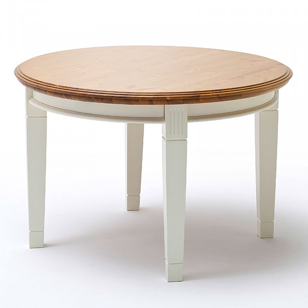 Esstisch Küchen-Tisch Padua rund ø 120 cm Pinie Nordica massiv
