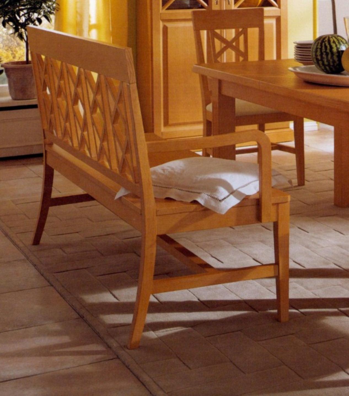 sitzbank bank mit armlehnen chalet pinie massiv casamia wohnen. Black Bedroom Furniture Sets. Home Design Ideas