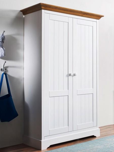 Mehrzweckschrank Wäscheschrank Vorratsschrank 2 Türen 4 Innenschubladen Napoli Pinie Nordica